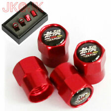 4pcs/Set Alu Red Sport Car Wheel Tire Stem Air Valve Cap For MUGEN