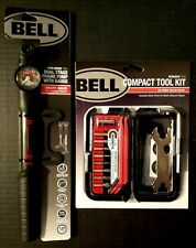 Bell Airblaster 850 2-Stage Smart Bicycle Frame Pump & Roadside 600 Tool Kit 36p