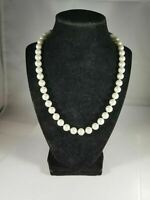 "Vintage Kissaka Faux Pearl 18"" Necklace"