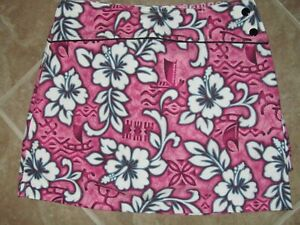 NEW Swing Chick Golf Skort Size 0 Pink Burgundy Floral Pattern New with Tags