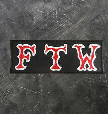 "HELLS ANGELS Support 81 Patch  Aufnäher ""FTW"" FUCK THE WORLD P12"