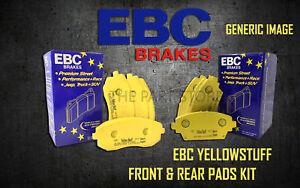 NEW EBC YELLOWSTUFF FRONT AND REAR BRAKE PADS KIT PERFORMANCE PADS PADKIT2386