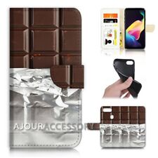 ( For Huawei Y6 2018 ) Wallet Flip Case Cover AJ40145 Chocolate