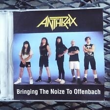 """Anthrax """" Bringing The Noize To Offenbach"""" Pro Sourced Silver Disc Cd-Oop/Rare"""