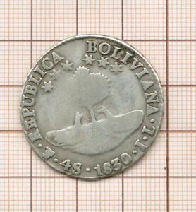 Bolivie 4 soles argent  Simon Bolivar  1830 JL