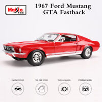 Maisto 1:18 Ford Mustang GTA Fastback 1967 Red Car Diecast Model Collectibles