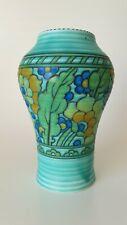 Charlotte Rhead for Crown Ducal Byzantine Tube Lined Vase Shape 165 Green #Feb1