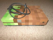 Green Brown Console Microsoft Xbox One S Minecraft Edition FOR PARTS