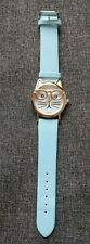 cat wearing glasses watch with blue strap - brand new