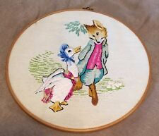 Vintage Neddlepoint Finished Beatrix Potter's Peter Rabbit Characters