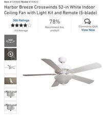"""52"""" Crosswinds II - Oil Rubbed Bronze Ceiling Fan w/ Light Kit & Remote control"""
