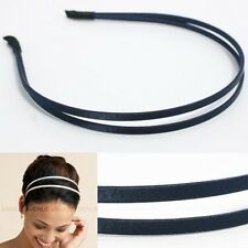 CELEBRITY DOUBLE HAIR HEADBAND GOSSIP GIRL navy HB1059