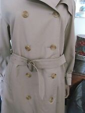 LONDON AQUASCUTUM TRENCH COAT AQUA 5 SMALL