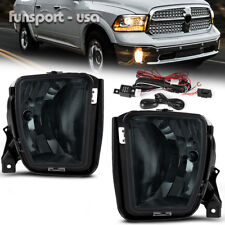 for 2013-2017 Dodge RAM 1500 Replacement Smoke Fog Light Front Bumper Lamps PAIR
