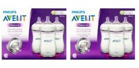 Philips AVENT BPA Free Natural Feeding 9 oz Bottle 1M+, 3 Count (2 Pack)