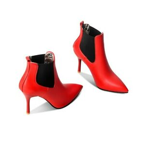 Women Sexy Ankle Boots High Heel Pointed Toe Stiletto Ladies Nightclub Shoes