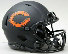 Chicago Bears - Black Eclipse Riddell Speed Mini Helmet (New In Box)