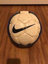 Vintage Nike T90 Catalyst Football/Soccer Ball (White/Royal Blue)