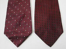 Silk Tie Lot Of 2 Necktie Burma Bibas And Innocenti New 4 x 58 Inch