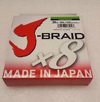 "Daiwa J-Braid Braided CHARTRUESE Line 30lb 330yd .011"" .28mm - JB8U30-300CH"