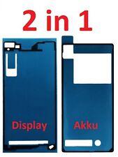 Sony Xperia Z2 D6502 6503 2 Sticker Kleber Display Backcover Klebepad Rahmen NEU