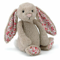 Jellycat  Soft Cuddle Blossom Bashful Bedding Time Beige Bunny Toy