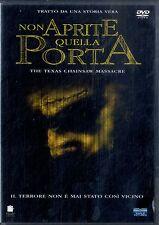 NON APRITE QUELLA PORTA (Texas Chainsaw Massacre) DVD Excellent
