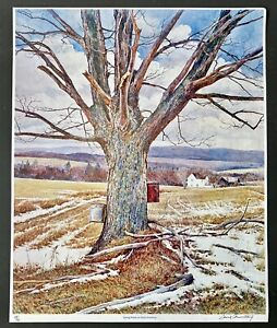 """1970's David Armstrong Vintage Signed Lithograph 69/75 """"Spring Winds"""" 26 by 21"""""""