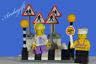 LEGO city car road signs zebra crossing Belisha beacons lollipop person girl