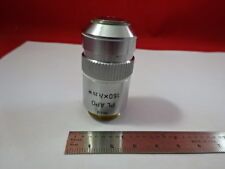 LEITZ WETZLAR GERMANY OBJECTIVE 160X PL APO OPTICS MICROSCOPE PART AS IS &93-71