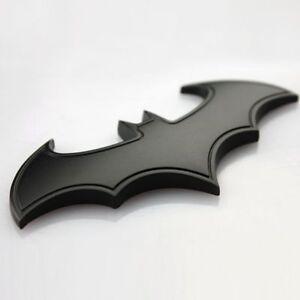 New Style 3D Metal Bat Auto Car Sticker Batman Badge Emblem Tail Decal Black