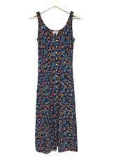 Vintage Topshop Button Down Long Floral Dress UK 8/10 Maxi Midi Y2K 90s