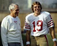 1980 San Francisco 49ers BILL WALSH & JOE MONTANA Glossy 8x10 Photo Poster