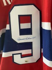 Maurice Richard Montreal Canadiens Signed CCM Vintage Hockey Jersey COA