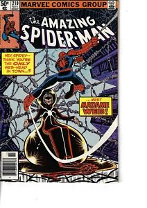 Amazing Spider-Man 210 1st Madame Web F/VF 1980 Glossy