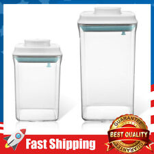 Push-Open&Close Food Storage Containers with Lids Airtight Set of 2-2.0qt, 0.9qt