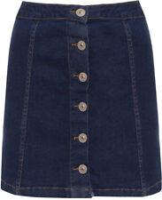 Denim Micro Mini Regular Size Skirts for Women