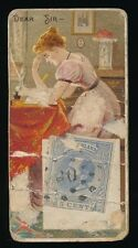 """1889 N85 Duke's Cigarettes POSTAGE STAMPS (""""Foreign"""") -Dear Sir *no litho*"""