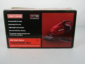 Craftsman 600 Watt Lightweight  VAC . Vacuum  917798 Hand - Held Vac New Open BX