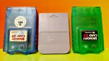 Set of 3 Sony PS1 Playstation 1 Memory Cards Lot PSX Card Bundle psone -