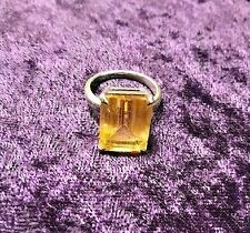 Tiffany & Co. Sterling Silver Citrine Cocktail Ring, size 7.25