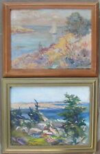 Two c.1920 Oils of Panel-Monhegan,Maine-NR