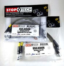 STOPTECH STAINLESS STEEL FRONT+REAR BRAKE LINES FOR 90-05 MAZDA MIATA MX-5 NA NB