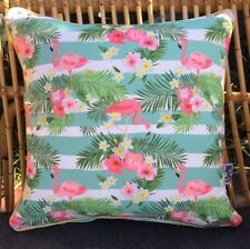 Retro Kitsch Pink Flamingo Outdoor Scatter Pillow Cushion COVER