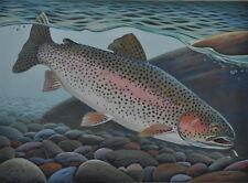Rainbow Trout Print 11 x 14 by Doug Walpus Fly Fishing Underwater Wall Decor
