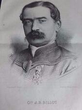 GÉNÉRAL J.B. BILLOT GRANDE GRAVURE 19° SIECLE