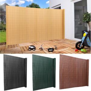 PVC Screening Bamboo Garden Fence Privacy Screen Panel Roll Wall Balcony Shade