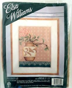 Elsa Williams Needlepoint Kit 06305 PEACE ROSE STILL LIFE 11x14 M LeClair NEW