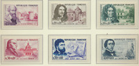 France Stamps Scott #B341 To B346, Mint Never Hinged