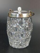 More details for hobnail glass crystal tobacco jar by deykin & sons birmingham